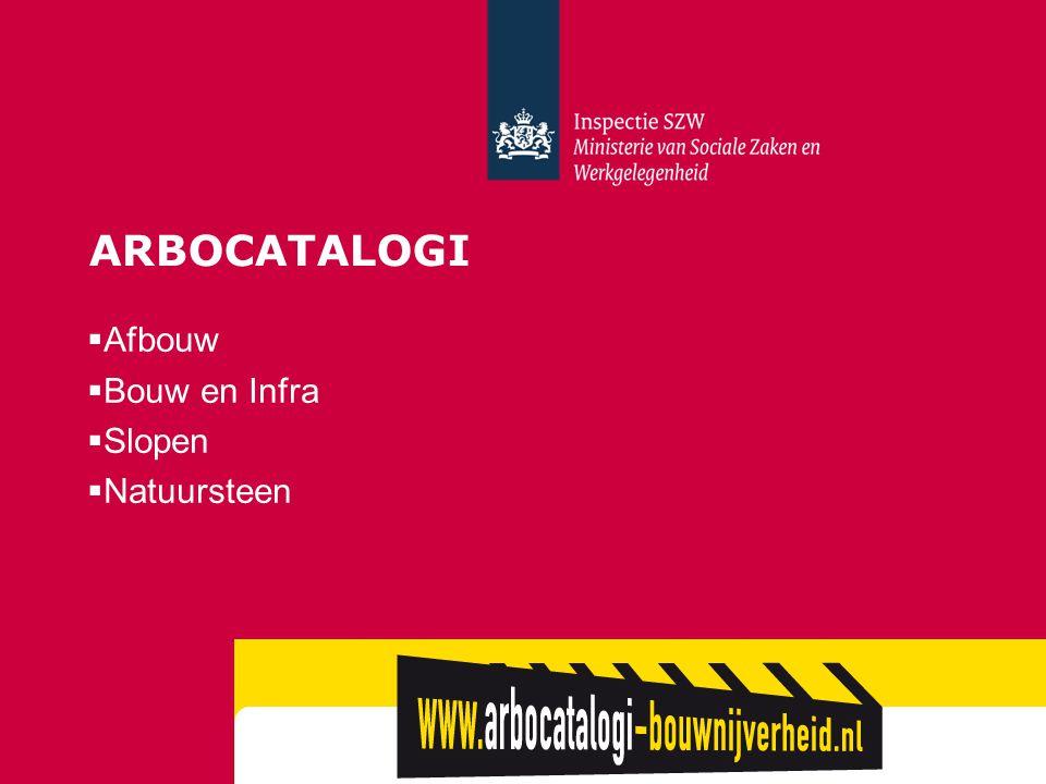 Arbocatalogi Afbouw Bouw en Infra Slopen Natuursteen