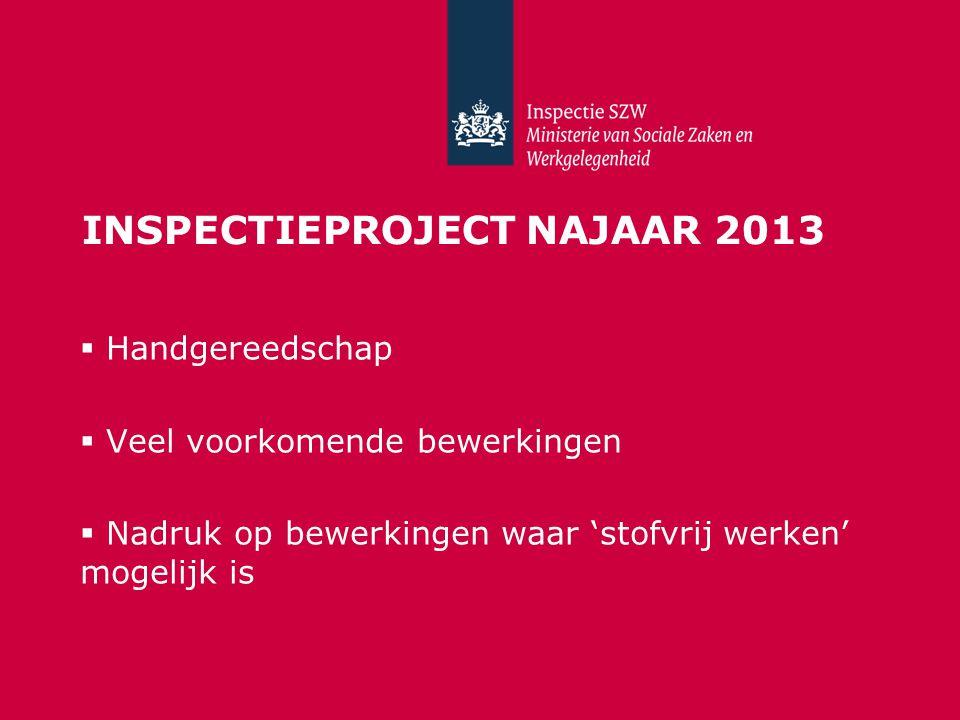 Inspectieproject Najaar 2013