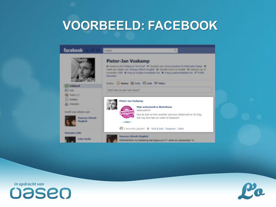 VOORBEELD: FACEBOOK