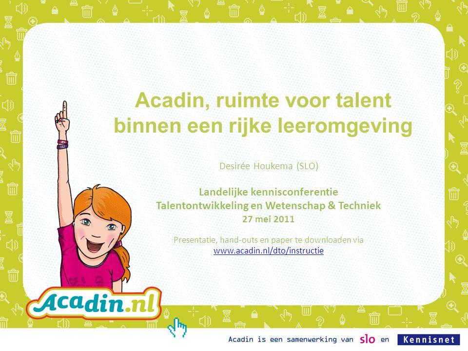 Acadin, ruimte voor talent binnen een rijke leeromgeving