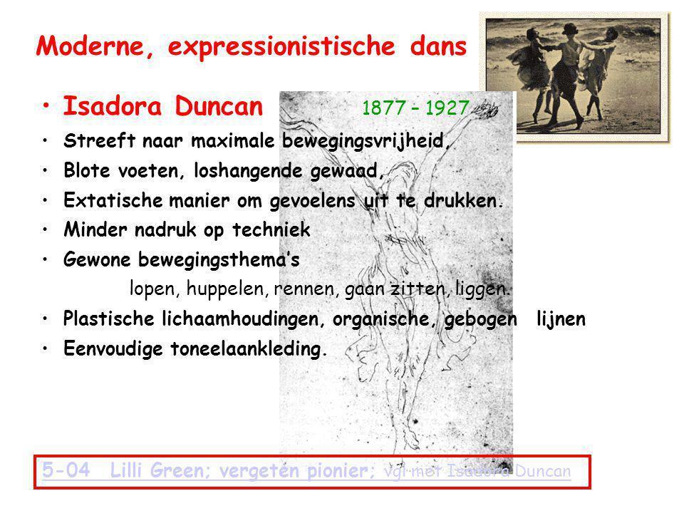 Moderne, expressionistische dans