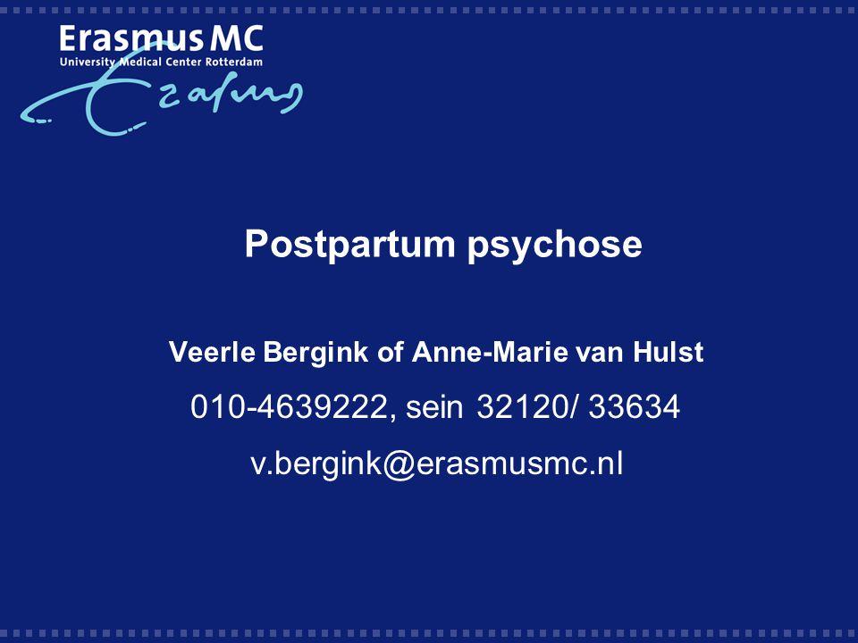 Veerle Bergink of Anne-Marie van Hulst