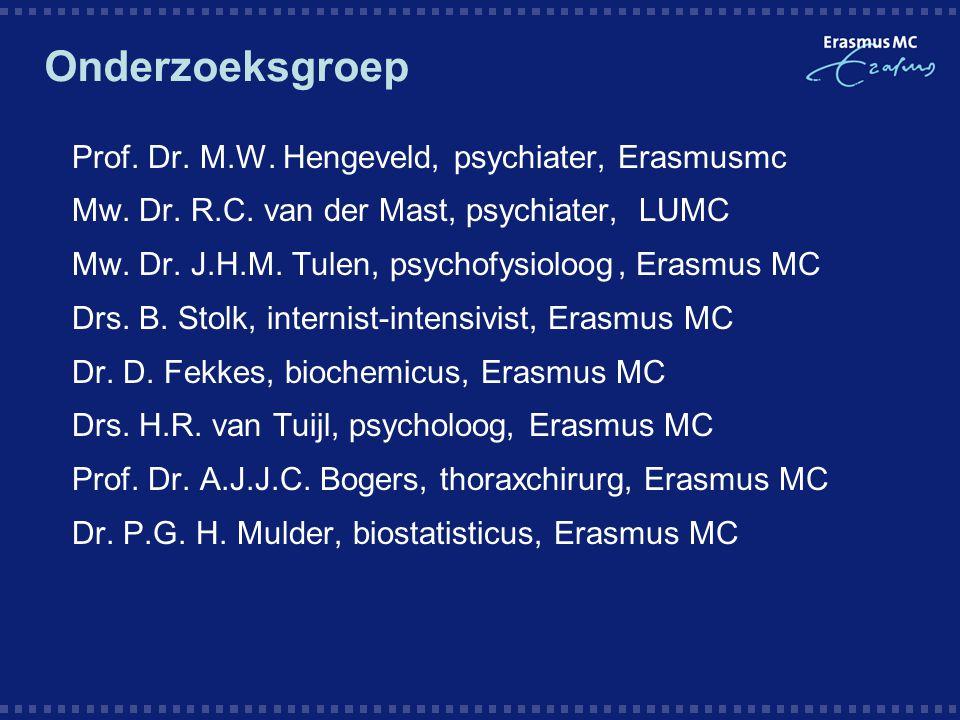 Onderzoeksgroep Prof. Dr. M.W. Hengeveld, psychiater, Erasmusmc