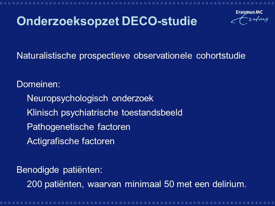 Onderzoeksopzet DECO-studie