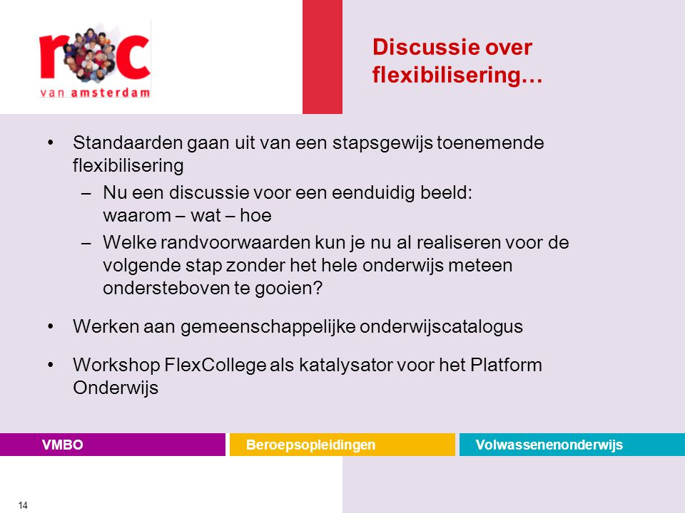 Discussie over flexibilisering…