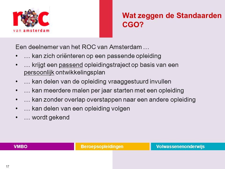Wat zeggen de Standaarden CGO