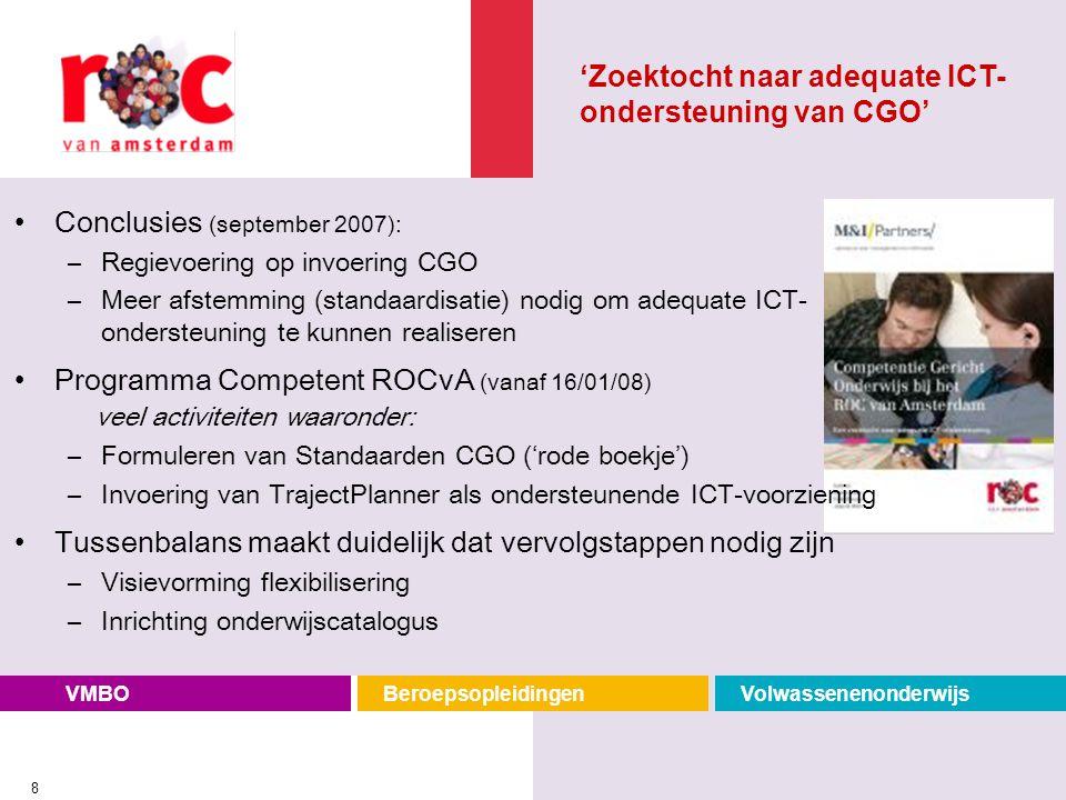 'Zoektocht naar adequate ICT-ondersteuning van CGO'