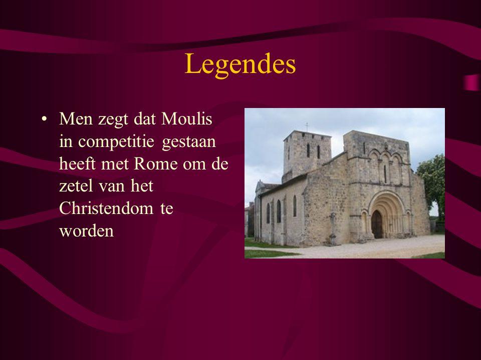 Legendes Men zegt dat Moulis in competitie gestaan heeft met Rome om de zetel van het Christendom te worden.