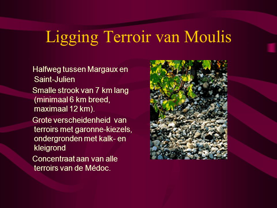 Ligging Terroir van Moulis