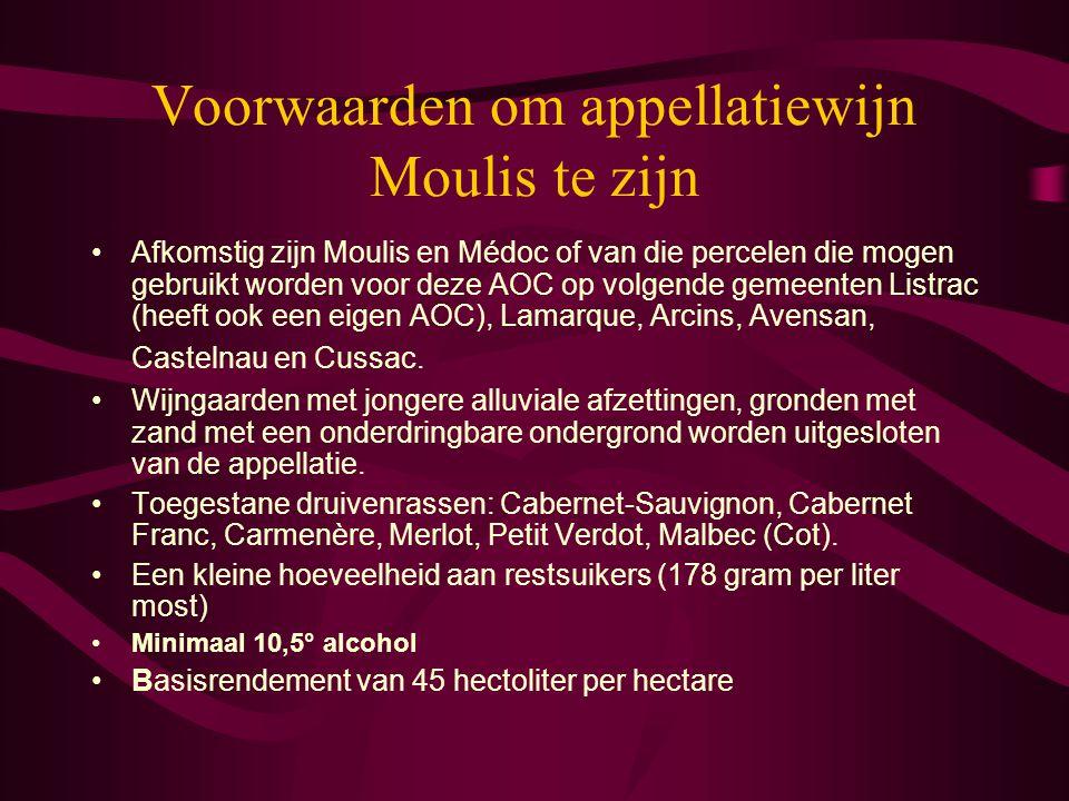 Voorwaarden om appellatiewijn Moulis te zijn