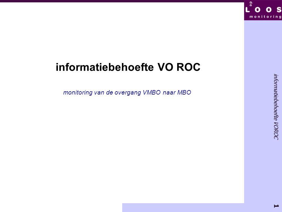 informatiebehoefte VO ROC