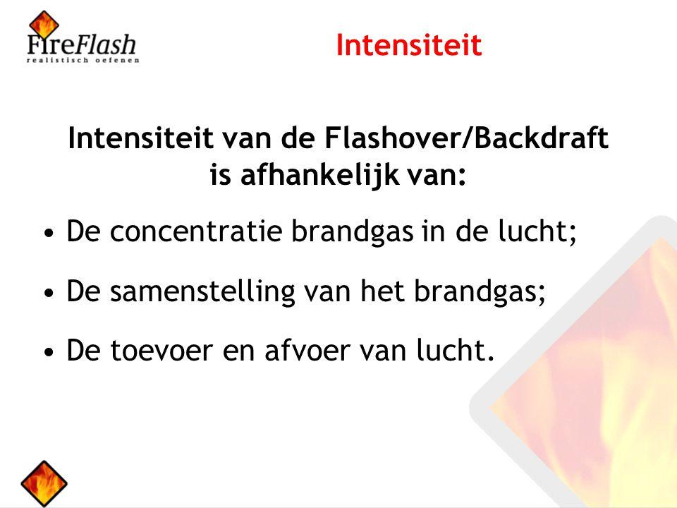 Intensiteit van de Flashover/Backdraft is afhankelijk van: