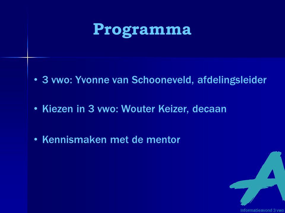 Programma 3 vwo: Yvonne van Schooneveld, afdelingsleider
