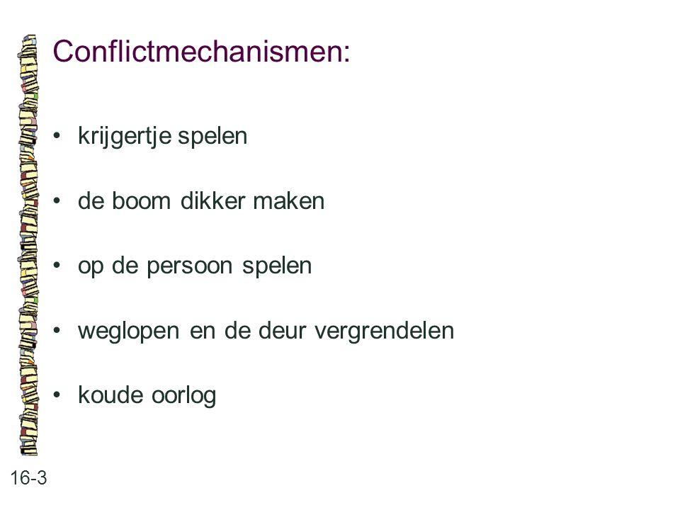 Conflictmechanismen: