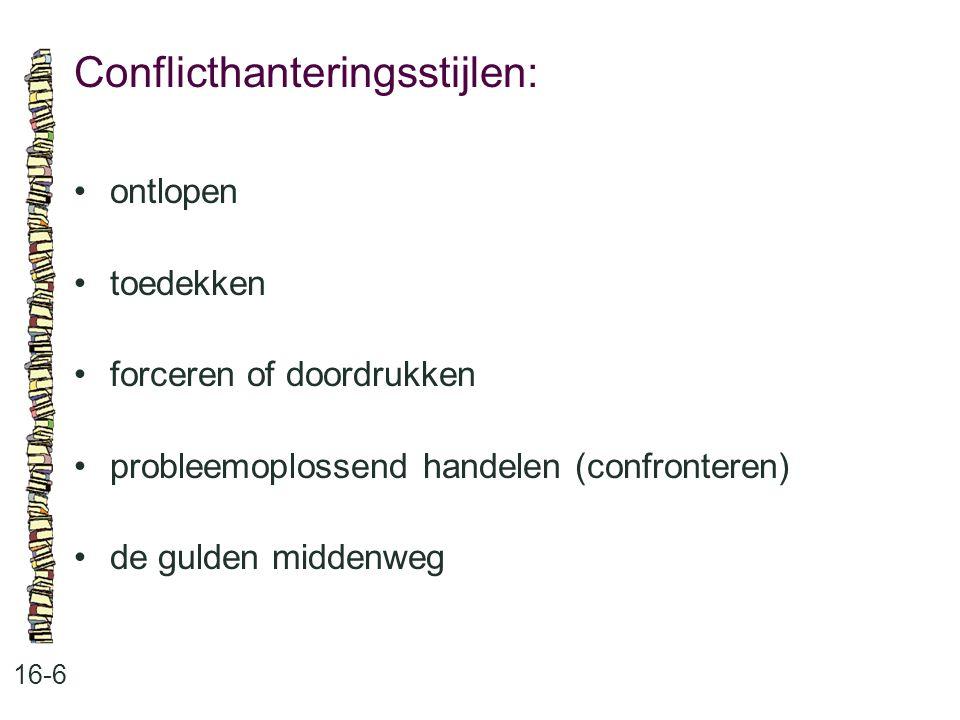 Conflicthanteringsstijlen: