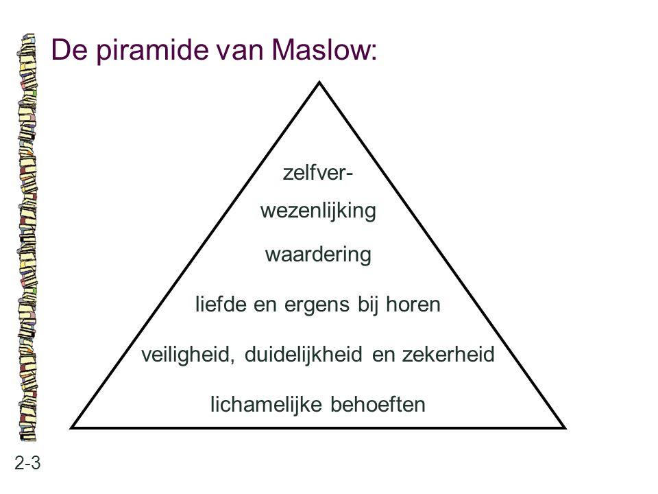 De piramide van Maslow: