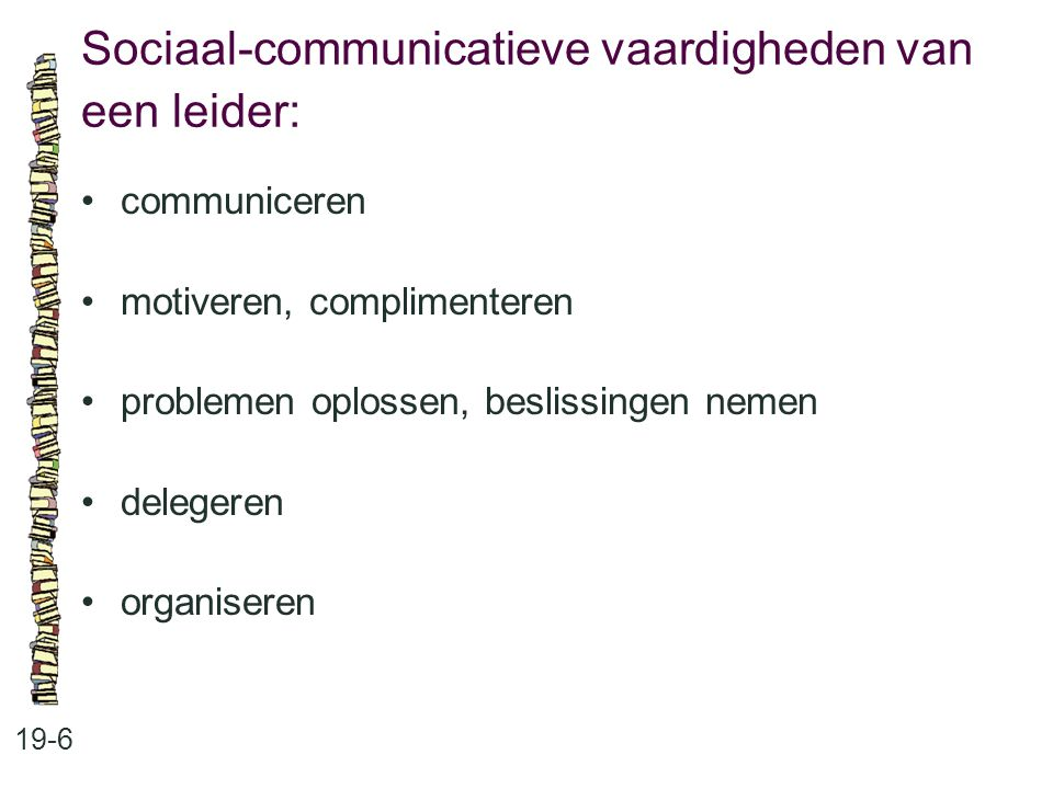 Sociaal-communicatieve vaardigheden van een leider: