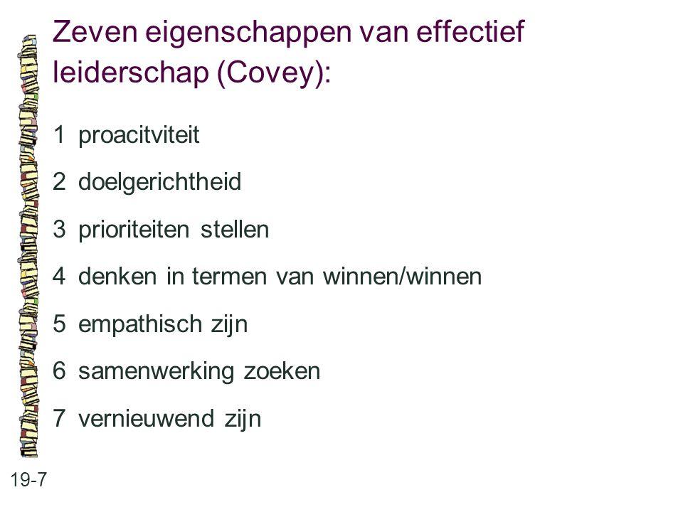 Zeven eigenschappen van effectief leiderschap (Covey):