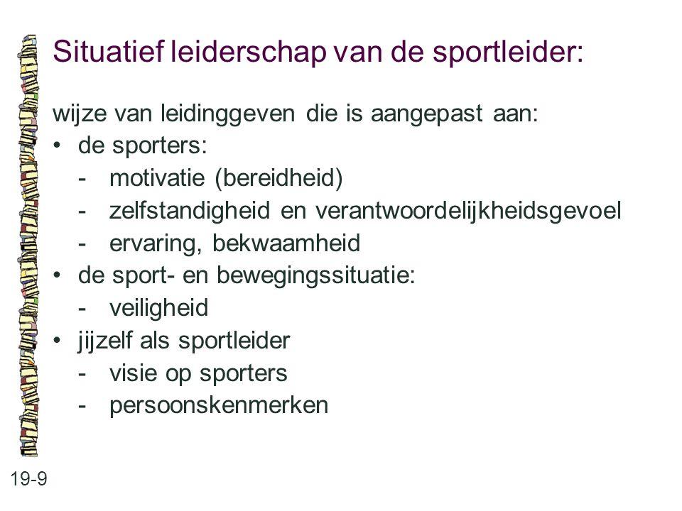 Situatief leiderschap van de sportleider: