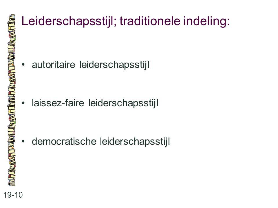 Leiderschapsstijl; traditionele indeling: