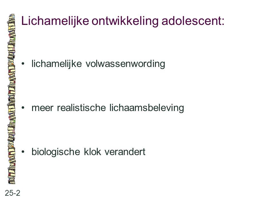 Lichamelijke ontwikkeling adolescent: