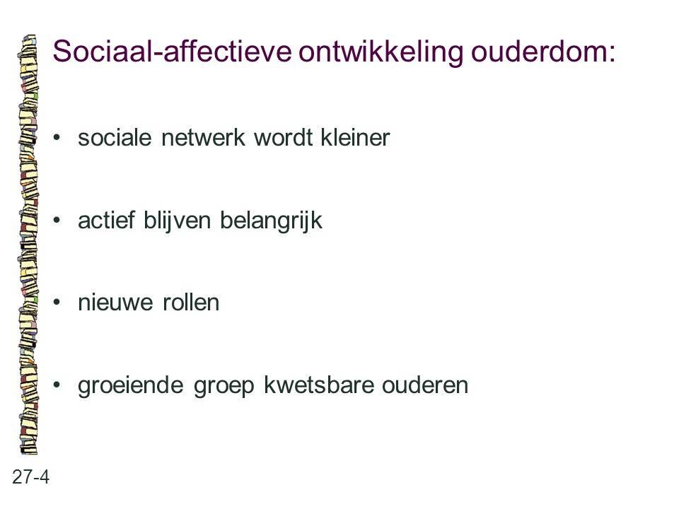 Sociaal-affectieve ontwikkeling ouderdom: