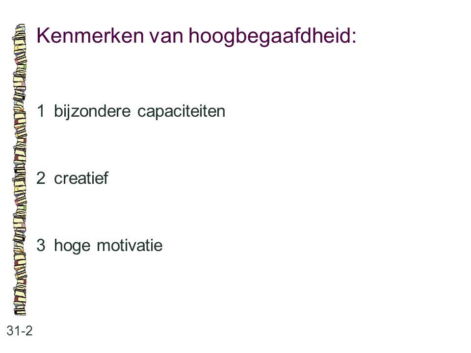Kenmerken van hoogbegaafdheid: