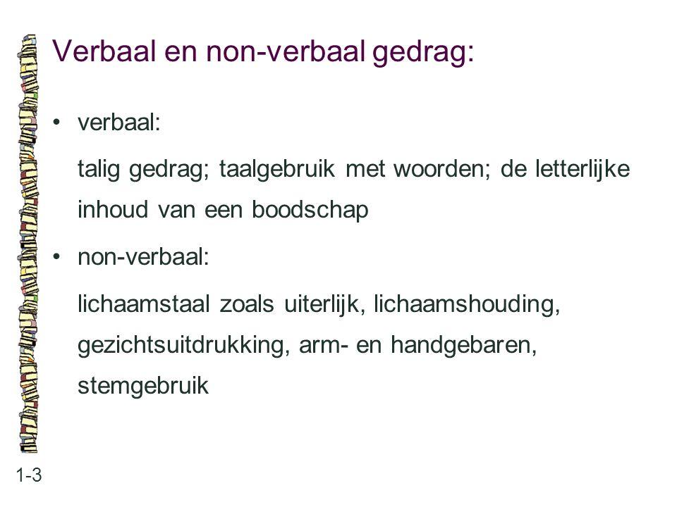 Verbaal en non-verbaal gedrag: