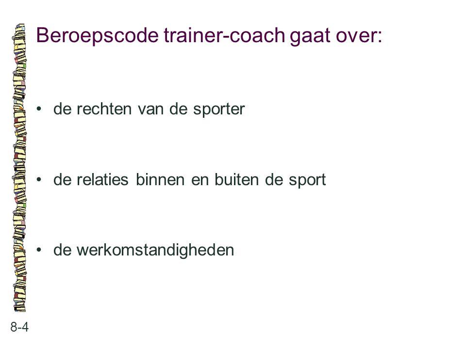Beroepscode trainer-coach gaat over: