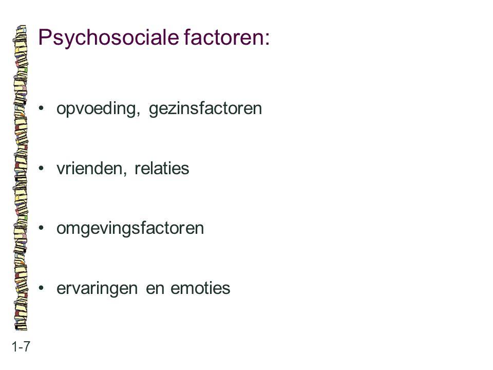 Psychosociale factoren: