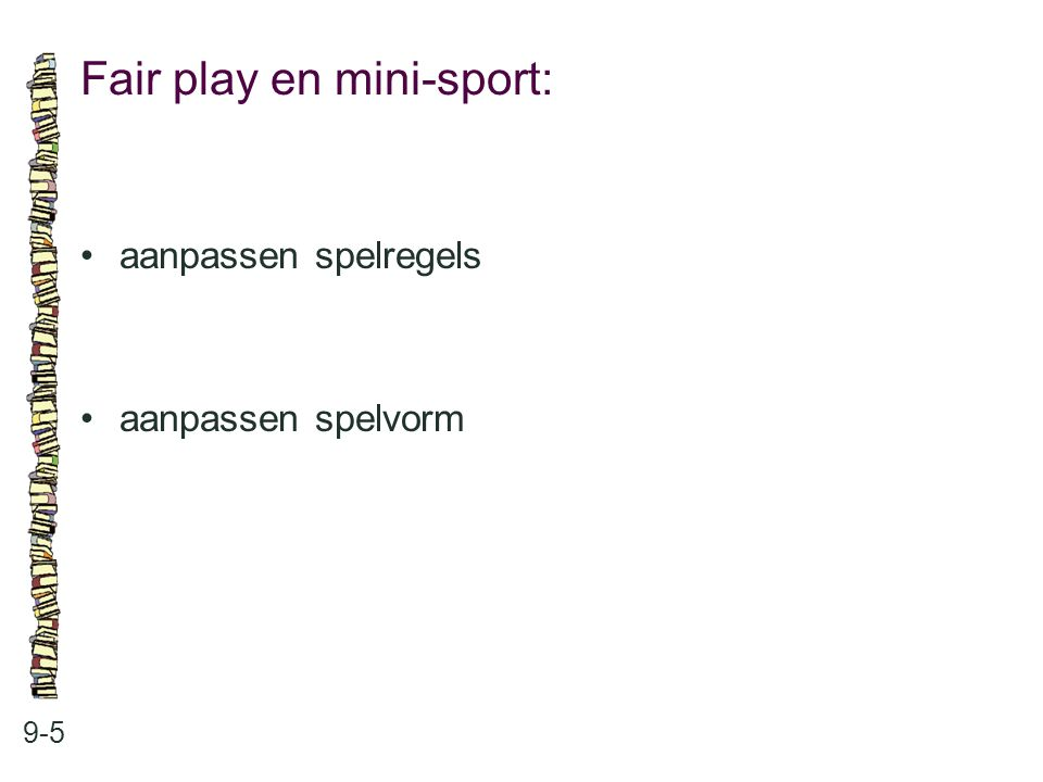 Fair play en mini-sport:
