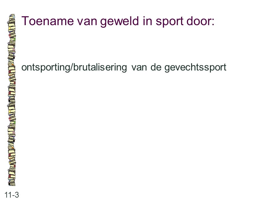 Toename van geweld in sport door: