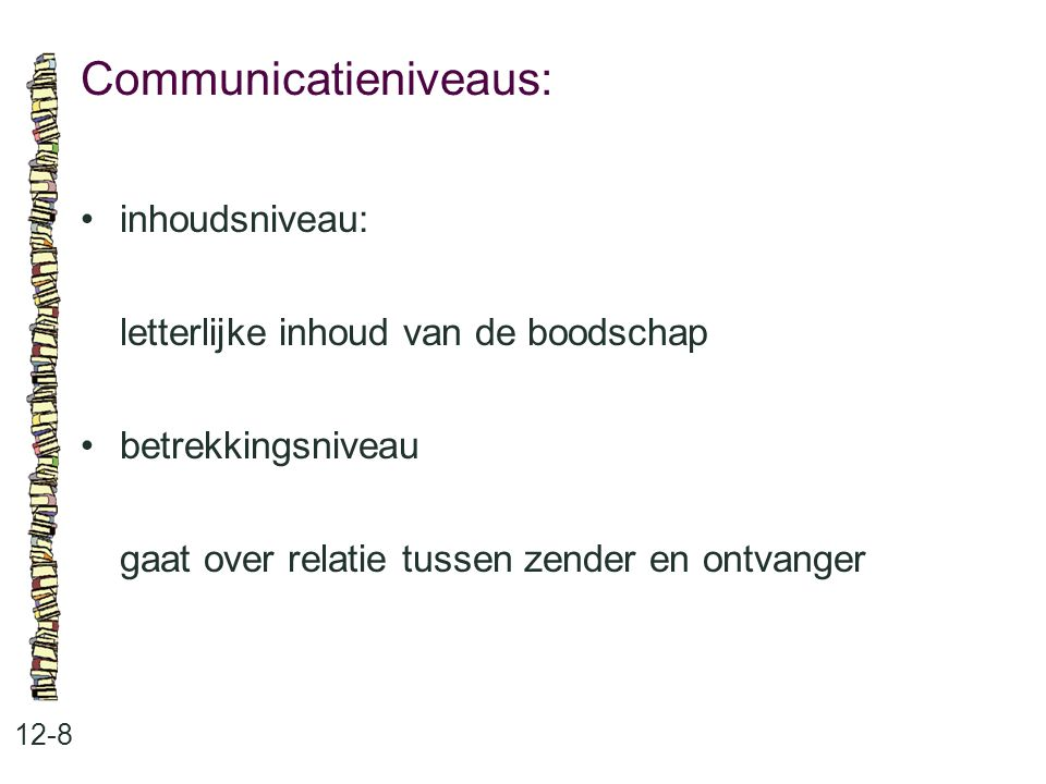 Communicatieniveaus: