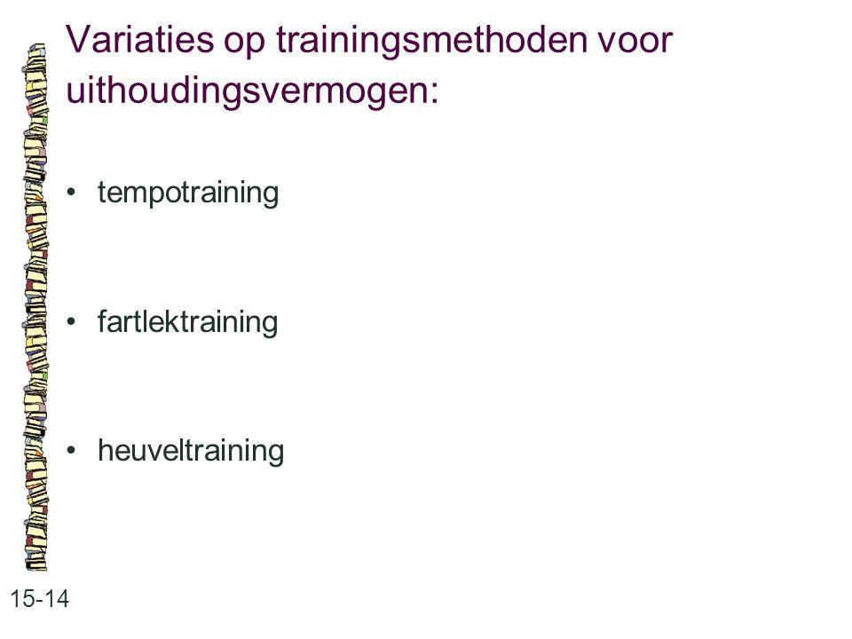 Variaties op trainingsmethoden voor uithoudingsvermogen: