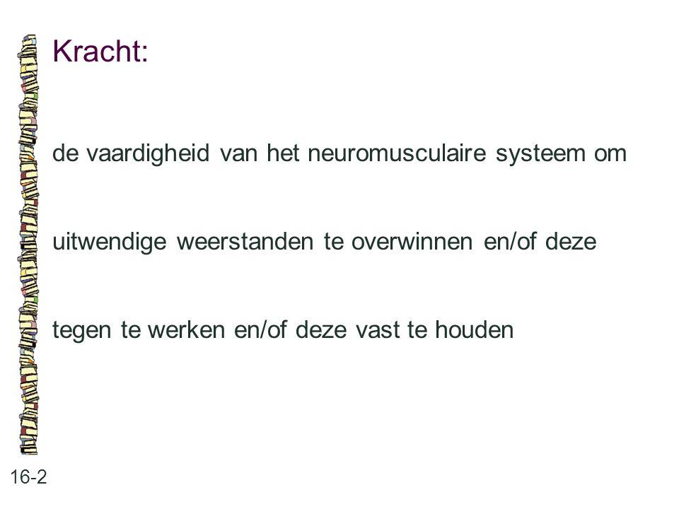 Kracht: de vaardigheid van het neuromusculaire systeem om