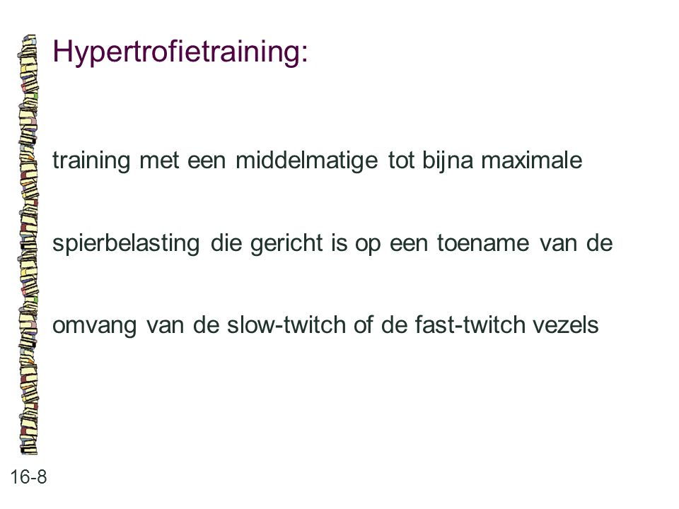 Hypertrofietraining:
