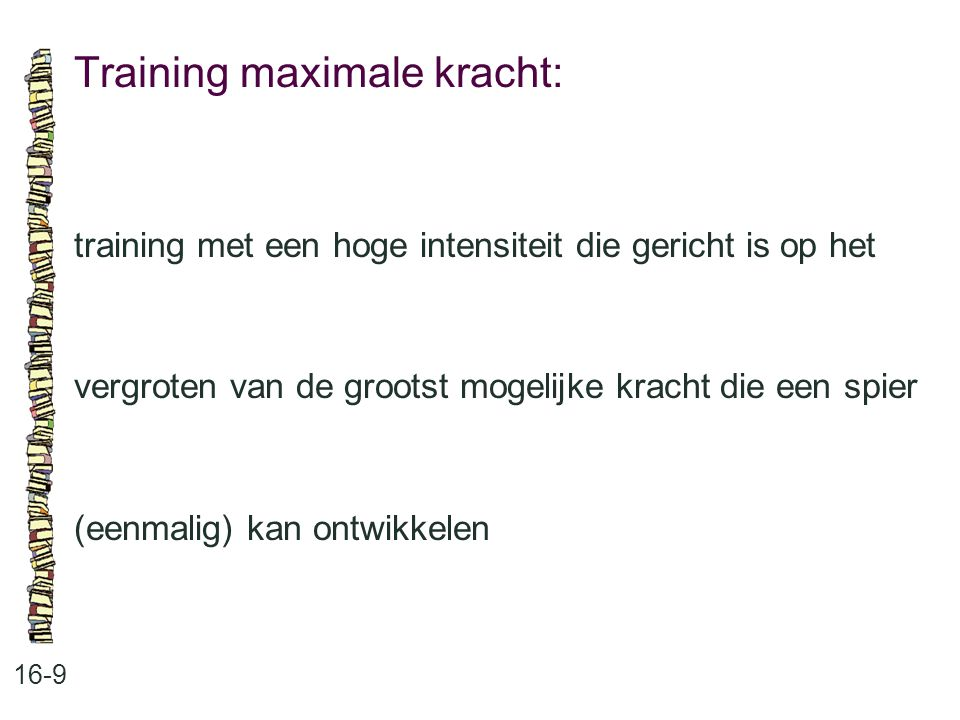 Training maximale kracht: