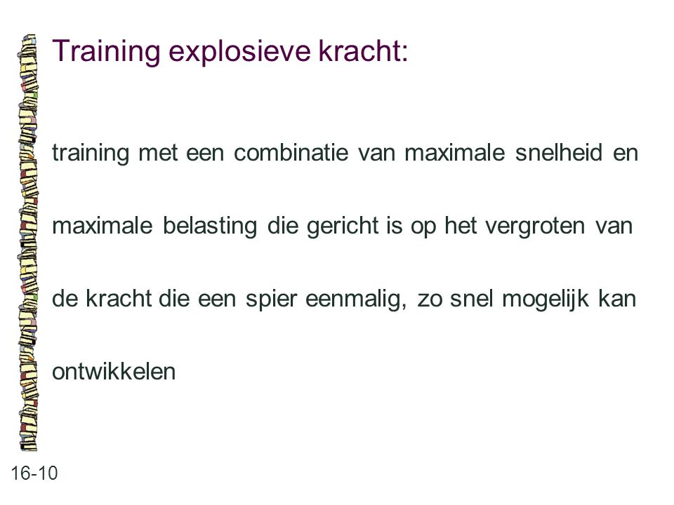 Training explosieve kracht: