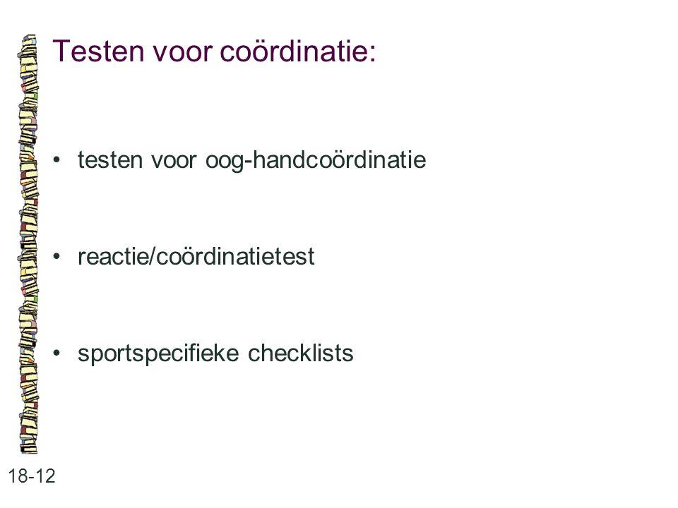 Testen voor coördinatie: