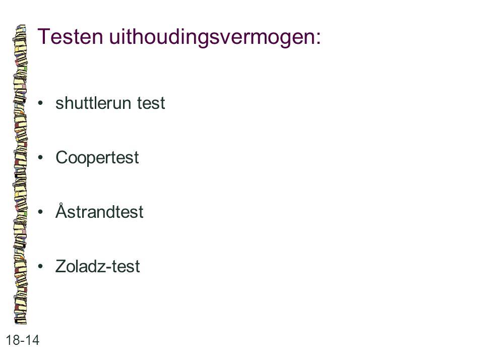 Testen uithoudingsvermogen: