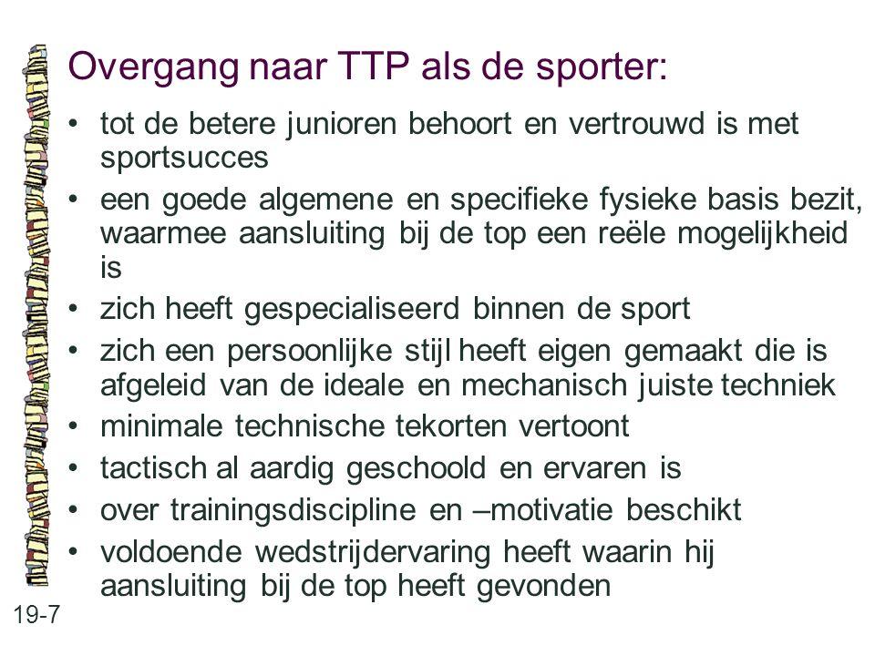 Overgang naar TTP als de sporter: