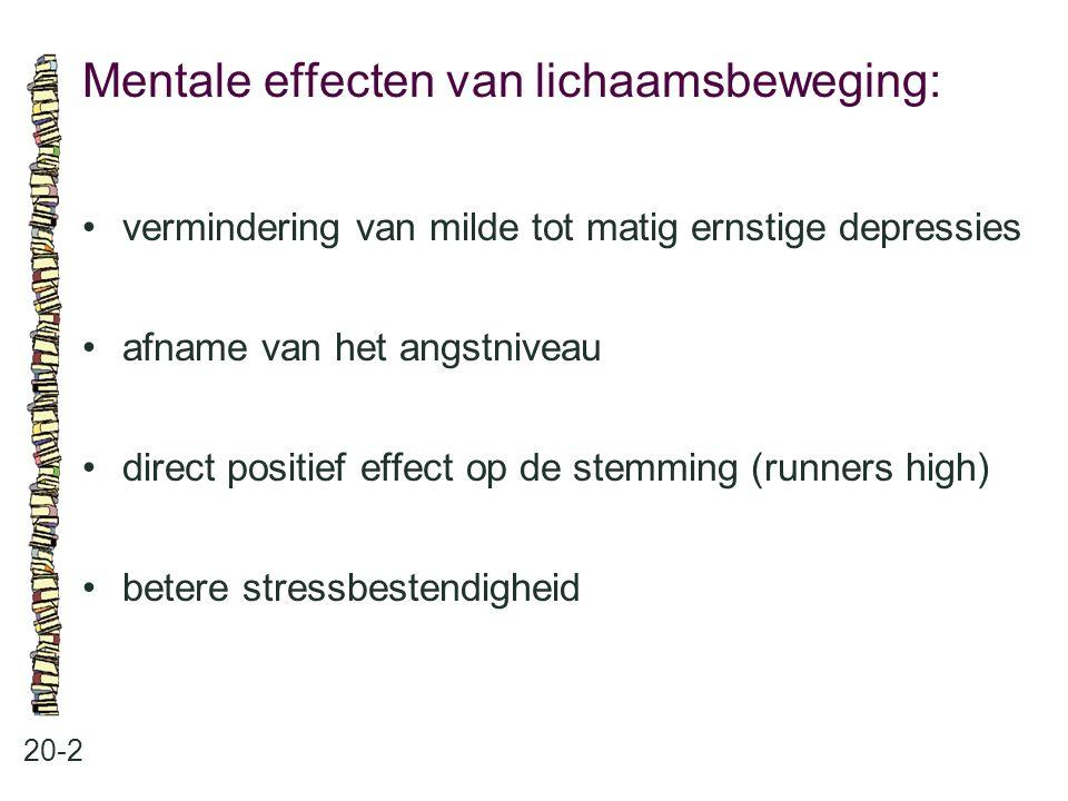 Mentale effecten van lichaamsbeweging: