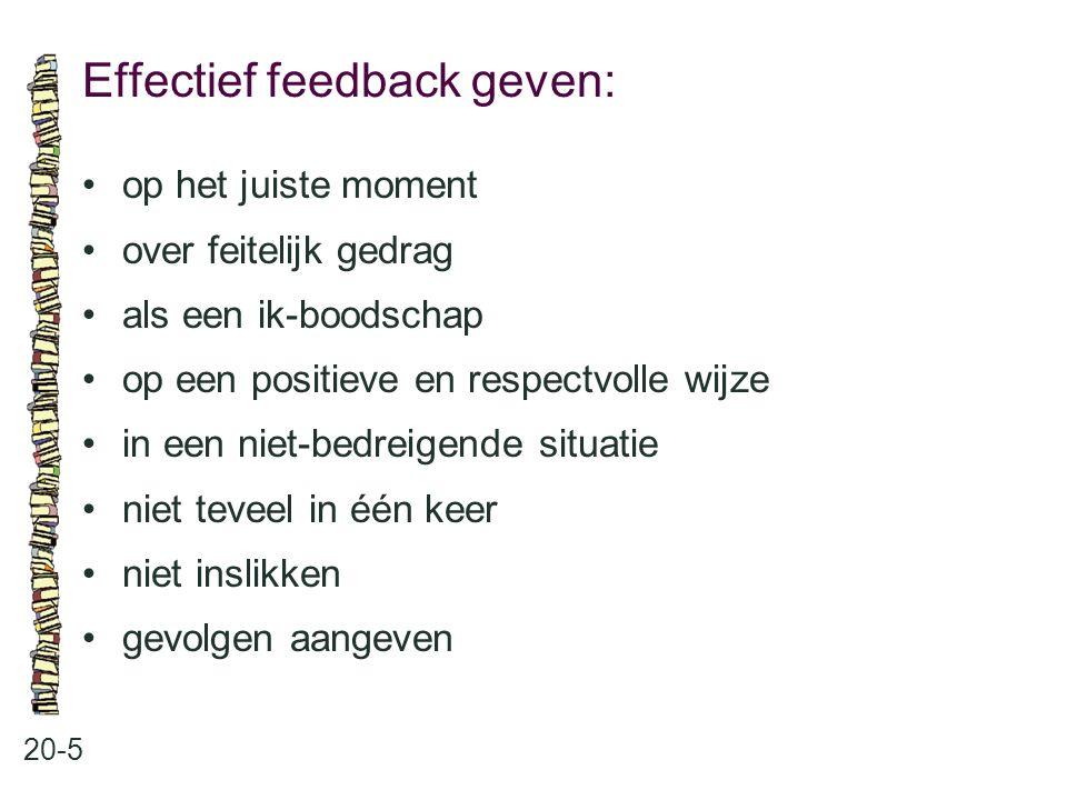Effectief feedback geven: