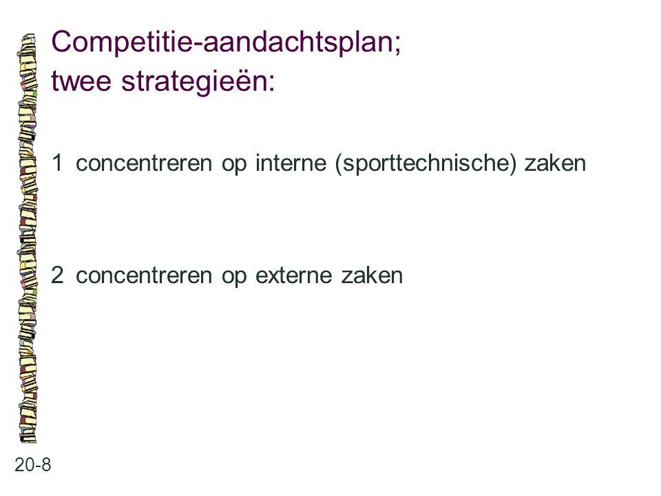 Competitie-aandachtsplan; twee strategieën:
