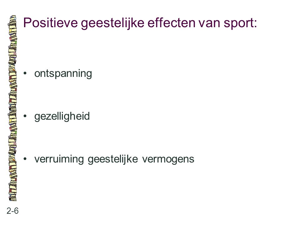 Positieve geestelijke effecten van sport: