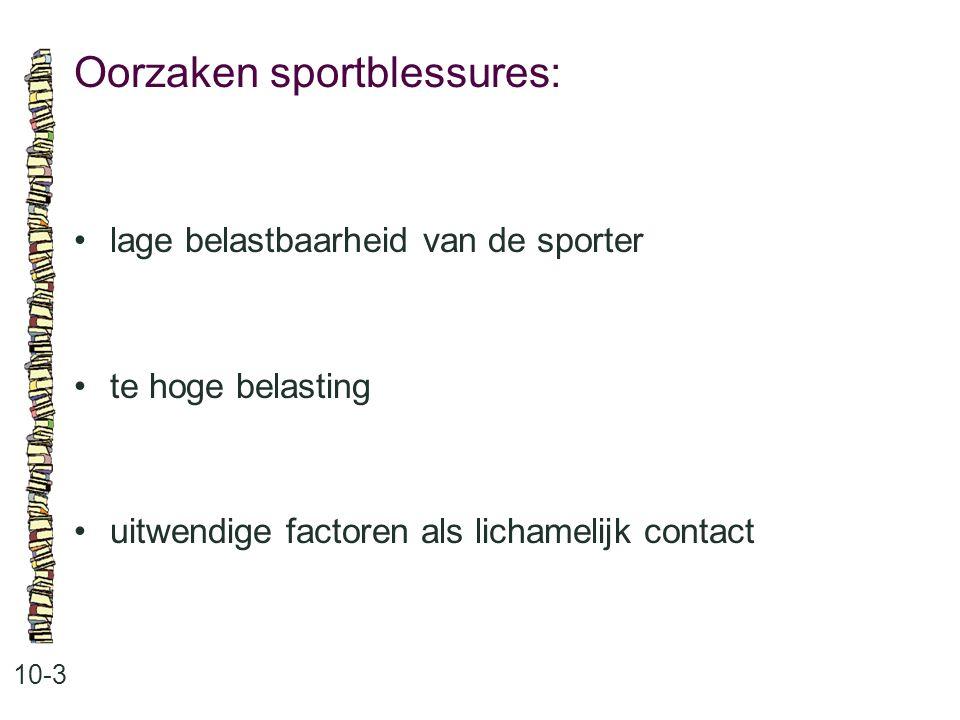 Oorzaken sportblessures: