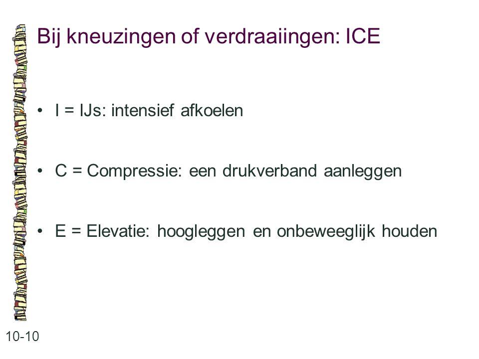 Bij kneuzingen of verdraaiingen: ICE