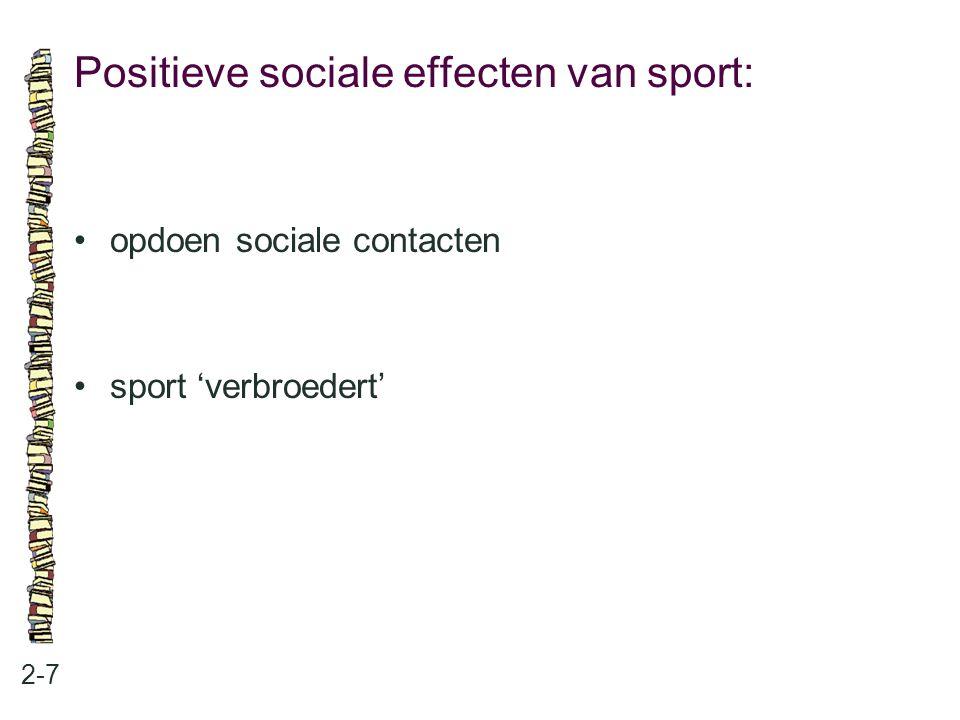 Positieve sociale effecten van sport: