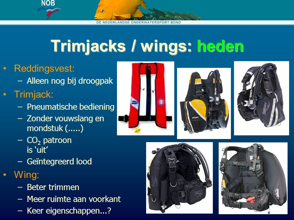 Trimjacks / wings: heden