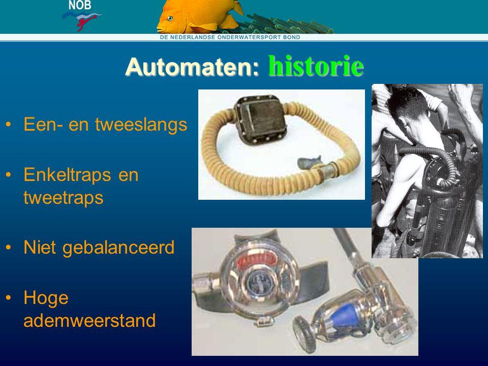 Automaten: historie Een- en tweeslangs Enkeltraps en tweetraps